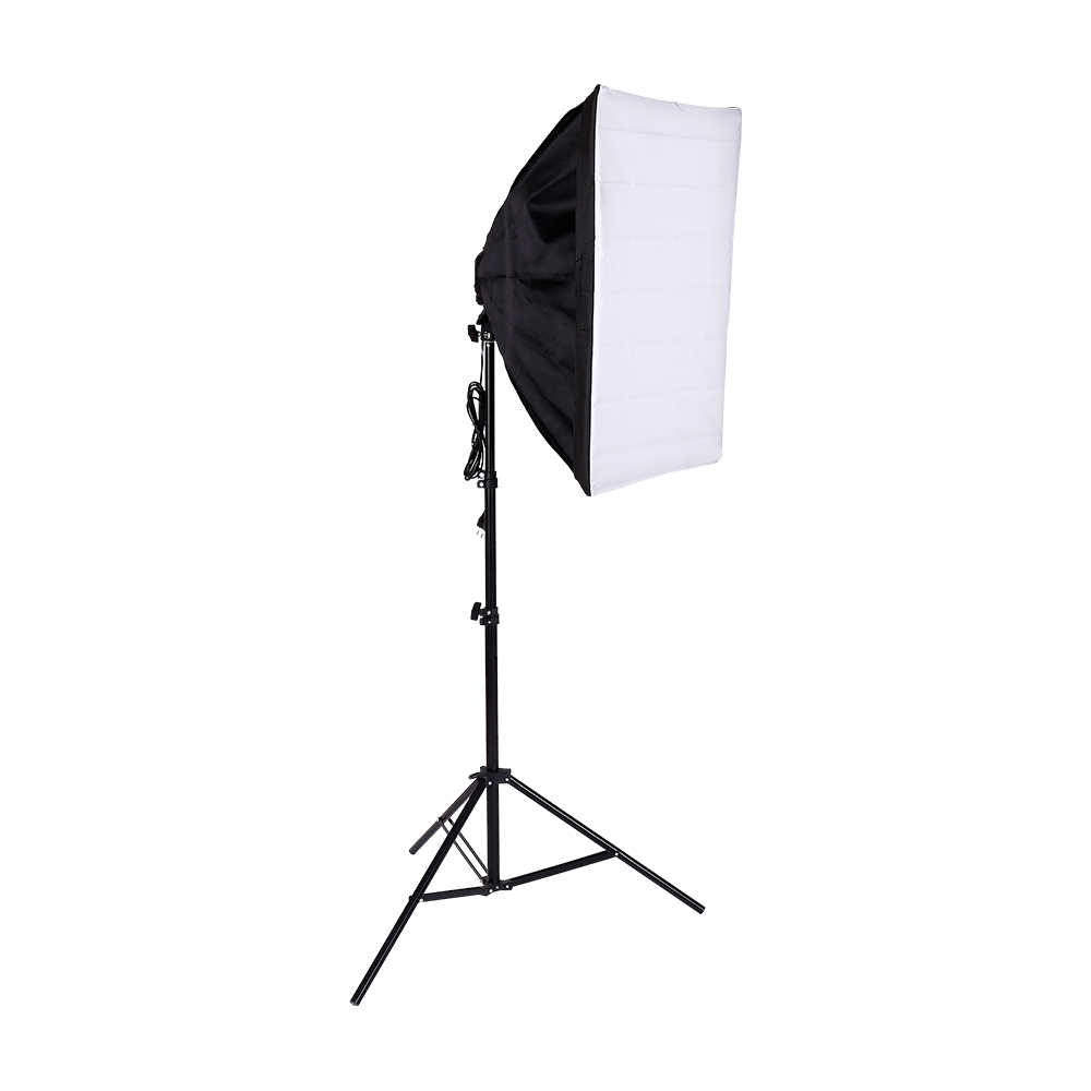 Photo Studio Softbox Tent 50x70cm with Single Lamp Holder For Photographic E27 Continuous Lighting With light stand and 20w bulb
