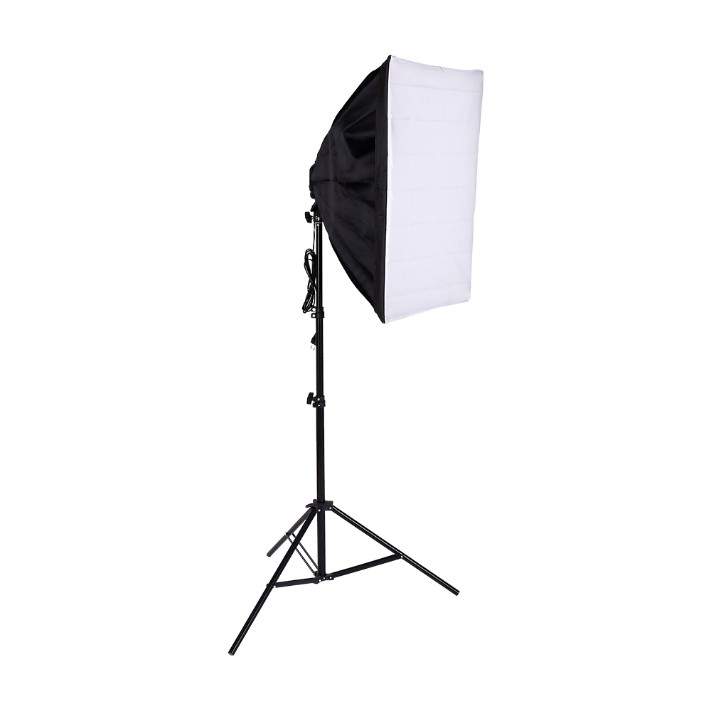 Photo Studio Softbox Tent 50x70cm with Single Lamp Holder For Photographic E27 Continuous Lighting With light stand and 20w bulbPhoto Studio Softbox Tent 50x70cm with Single Lamp Holder For Photographic E27 Continuous Lighting With light stand and 20w bulb