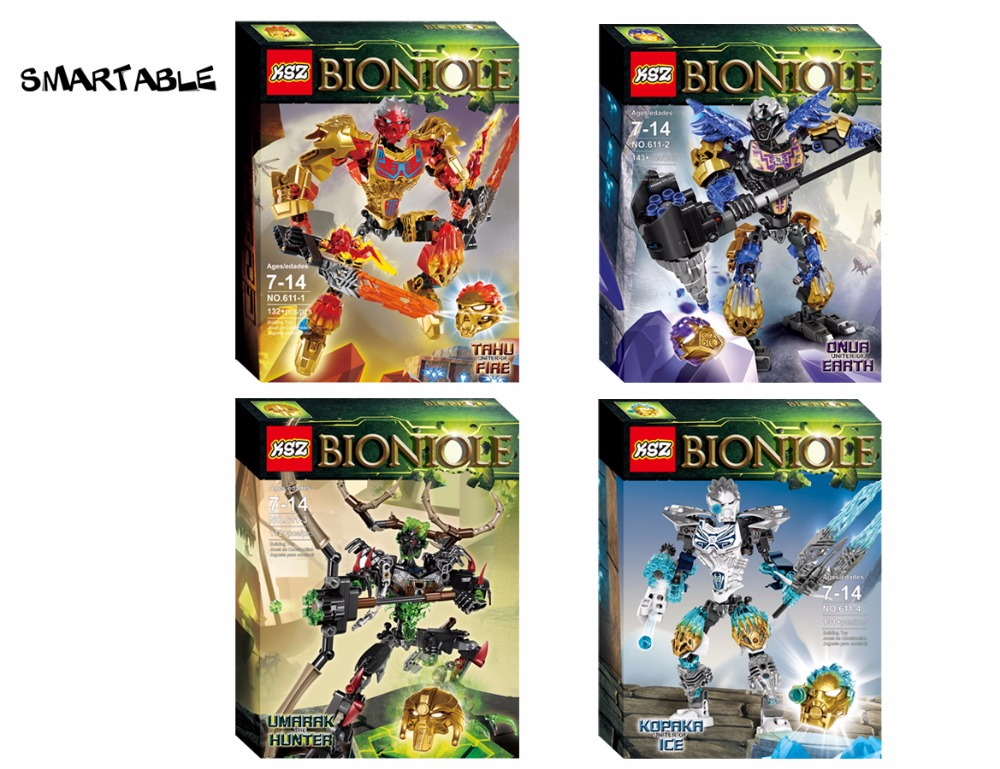 BIONICLE-serien 4 st / set Earth ICE Fire Hunter Action Figurer 611 - Byggklossar och byggleksaker - Foto 2