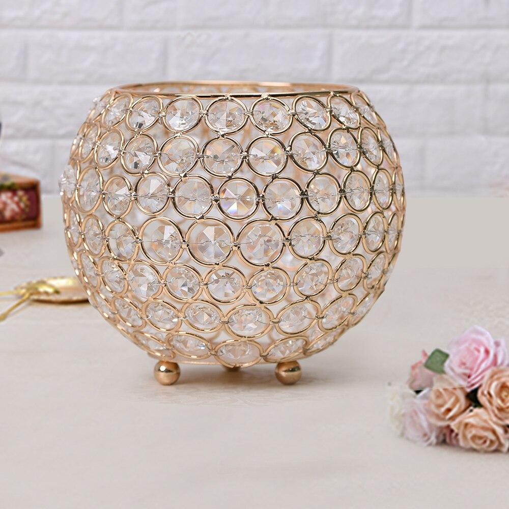 Gold metal candle holder wedding table centerpiece flower for Decoration zinc