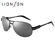 LianSan Vintage Aviator Polarized Aluminium Sunglasses Women Men Brand Designer Driving Sun Glasses Stretchable Legs LSP651
