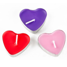 50 Pcs Heart Shaped Candles