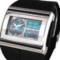 2016 Nueva OHSEN LED Digital Fecha de Goma Impermeable Del Deporte Para Hombre Boy Reloj de Pulsera Marca LED Digital Reloj de Los Hombres de Moda