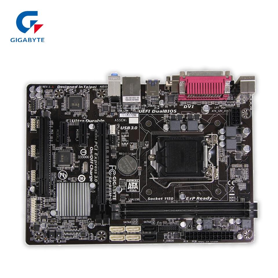 Gigabyte GA-B85M-D3V Original Used Desktop Motherboard B85M-D3V B85 LGA 1150 i3 i5 i7 DDR3 16G Micro-ATX gigabyte ga b85m d3v a original used desktop motherboard b85m d3v a b85 lga 1150 i3 i5 i7 ddr3 16g micro atx