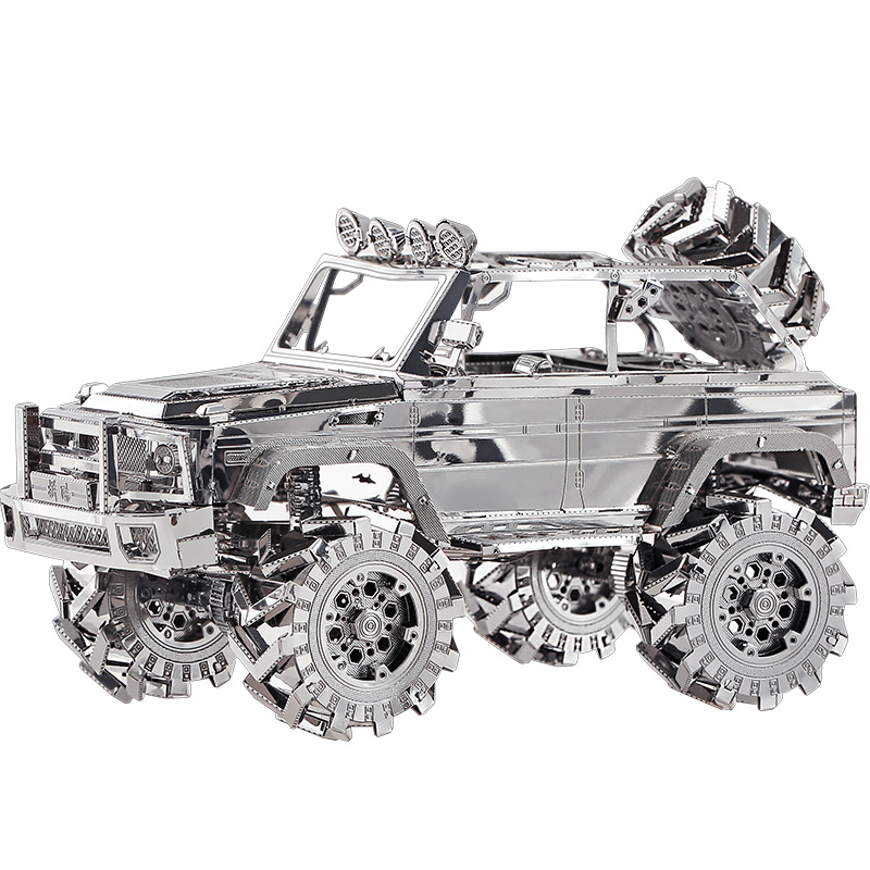 MMZ MODEL Piececool 3D Metal Puzzle SUV OFF-ROAD VEHICLE Assembly Metal Model Kit DIY 3D Laser Cut Model Puzzle Toys Gift