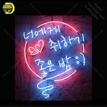 Neon light Signs Korean Neon Word Neon Bulb sign Lamp Handcraft Beer Bar PUB display Business neon Letrero Neons enseigne lumine