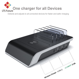 Image 2 - Fast Wireless Charger For iPhone Samsung QC 3.0 Quick Charge Chargers Multi usb Ports Charging Dock Station Desk Phone Organizer