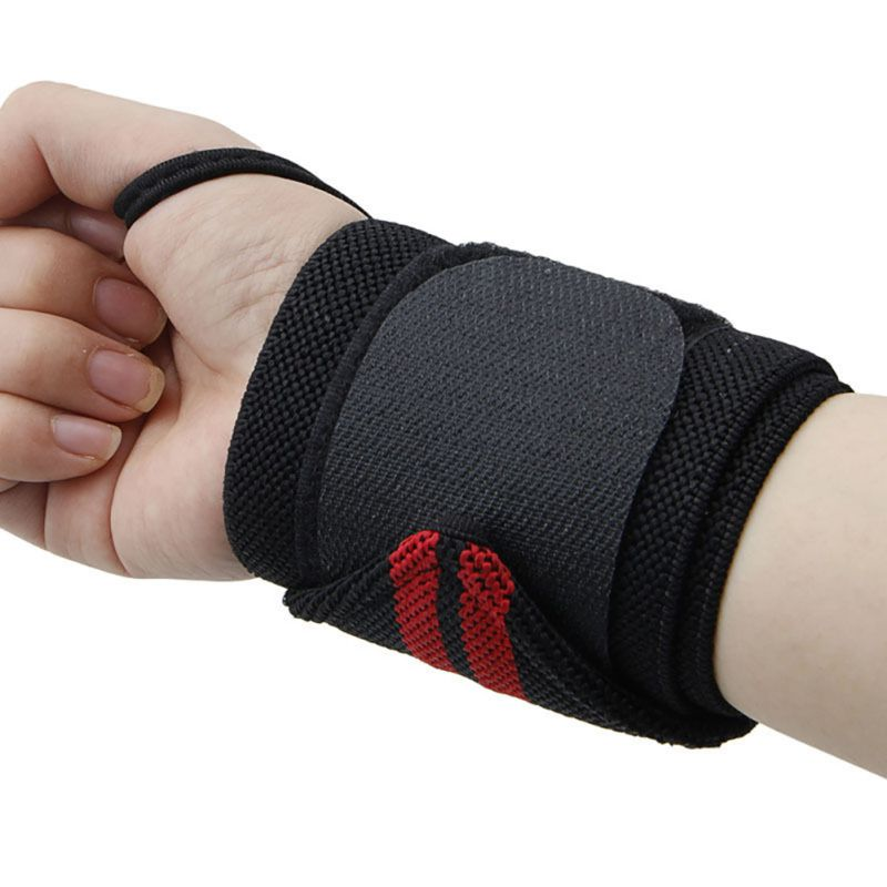 Home Lifting Sports Wristband Gym Wrist Thumb Support Straps Wraps Bandage Fitness Training Safety Hand Bands