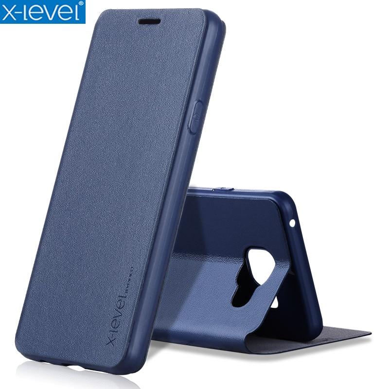 X-Level kniha kožená flip pouzdra pro Samsung Galaxy A3 2017 A320 A320F ultratenká obchodní kůže Funda Cover Case