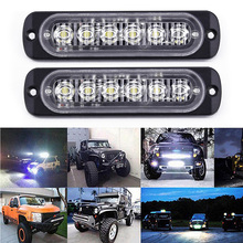 Car Suv 6led Drl Daytime Running Light Fog Headlight Flashing Lamp Kit