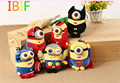 6pcs/lot Minions The Super Hero Spiderman Superman Batman Captain America Plush Toys For Children And Girlfriend