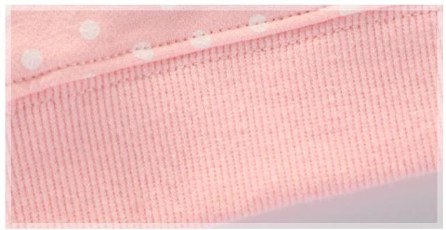 Girl's pink polka dot fox sweater