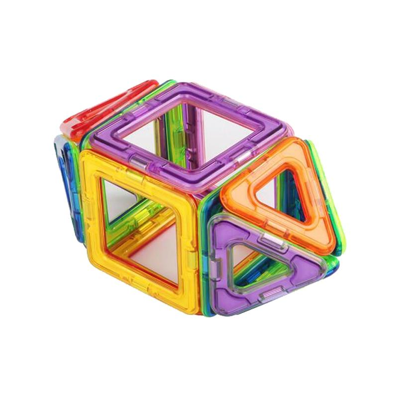 Магнитные Строительные Блоки Мини 30 ШТ. Развивающие Игрушки Модели Здания Для Детей DIY Пластиковые Творческие Кирпичи