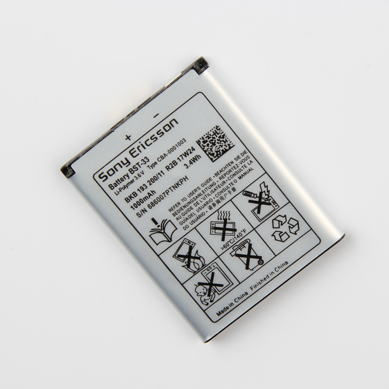 Original Sony BST 33 Phone Battery For Sony Ericsson K790i K800 K800i K810 K810i K530 K550 K630 K660i K790 1000mAh in Mobile Phone Batteries from Cellphones Telecommunications