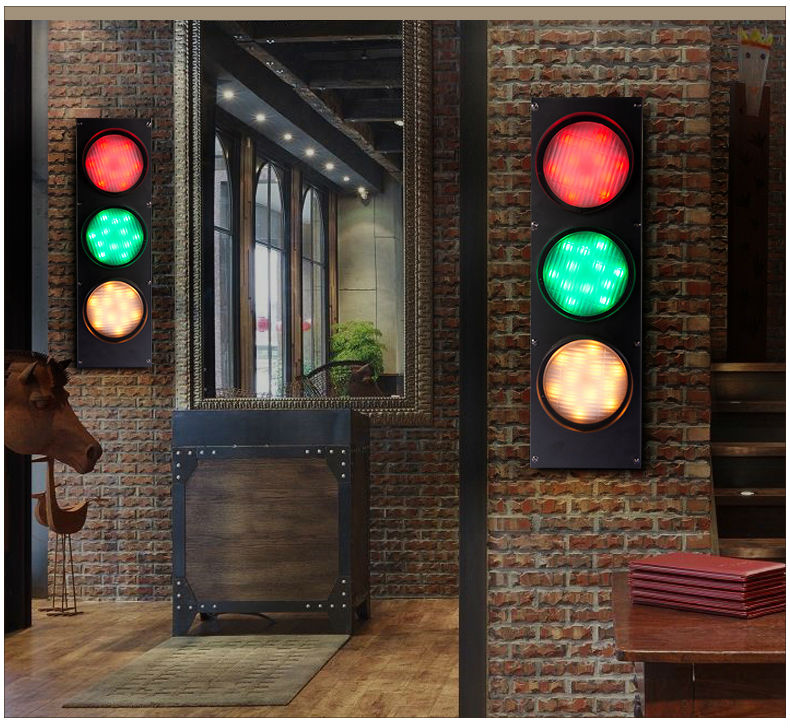 Traffic Signal LED Wall Lamps American Country Style Wall Lights Sconce For  Bar Hotel Restaurant Indoor Living Room Lighting In Wall Lamps From Lights  ...