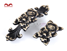 10 Pcs European Style furniture knob drawer pulls Antique cabinet handle Length 54 mm Height 22