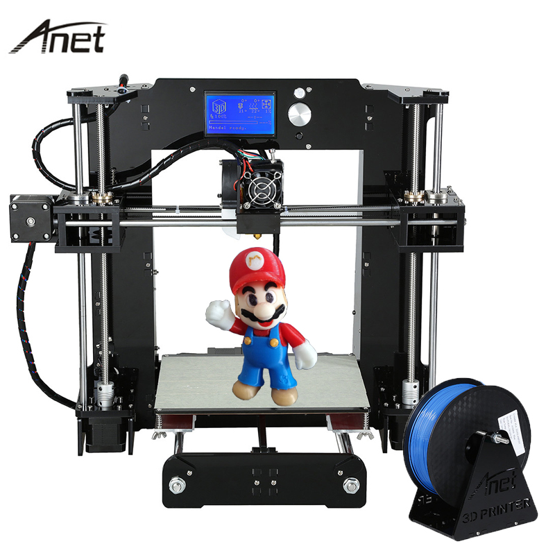 Anet Upgrade Auto leveling A6 A8 Impresora 3D Printer Reprap i3 imprimante 3D DIY Kit Aluminum Hotbed with SD Card PLA Filament цена