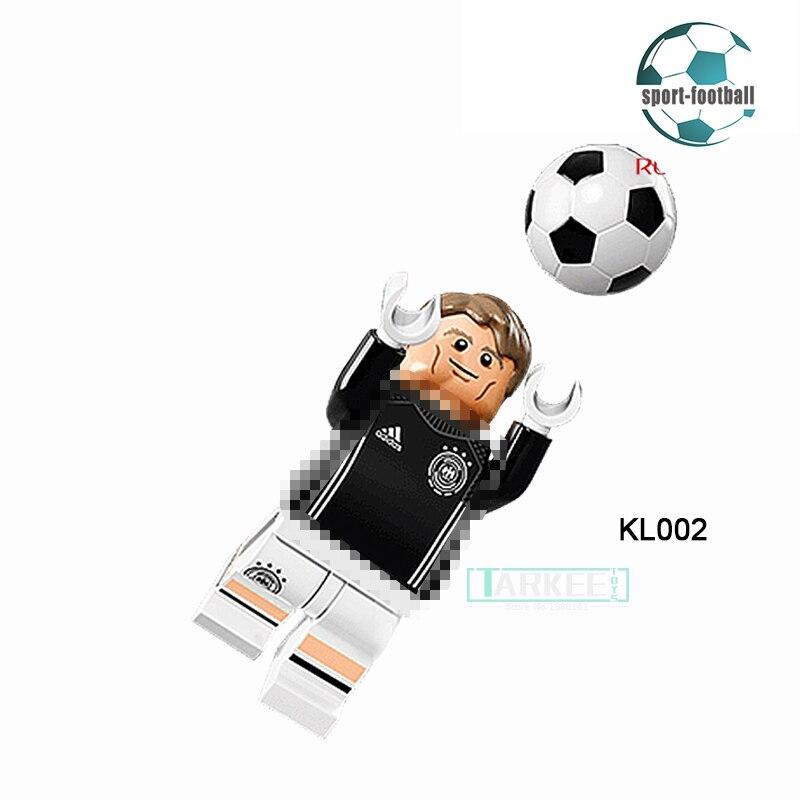 Building Blocks Manuel Neuer Super Star Soccer Football Germany team diy figures Super Heroes Bricks Kids DIY Toys Xmas