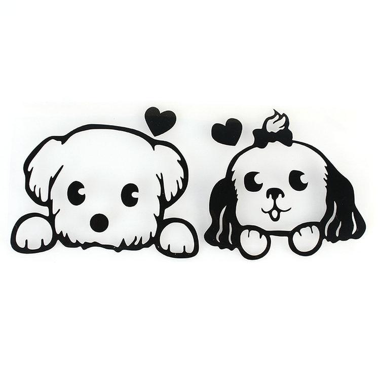 Gambar Kartun Anjing Hitam Putih Topik Pedia
