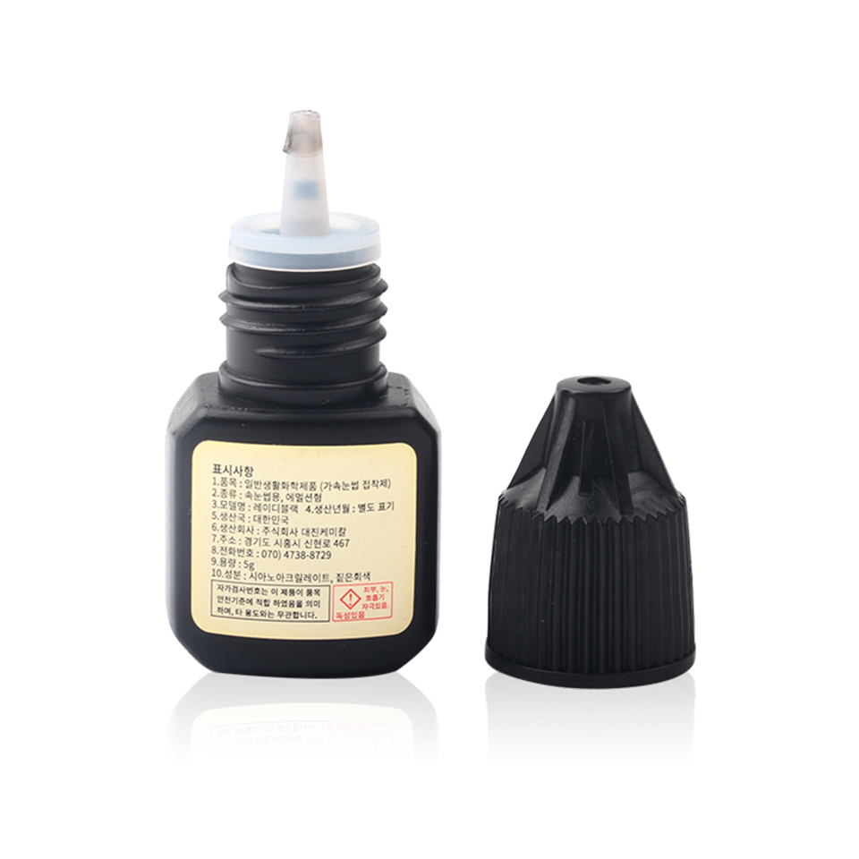 Image 5 - 1 Bottle 5ml Lady Black Eyelash Extension Glue Fast Drying False Eyelash Extension Glue Over 6 Weeks Make Up Professional Tools-in Eyelash Glue from Beauty & Health