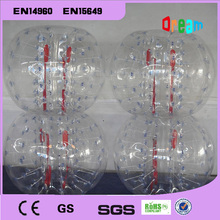 Free Shipping!1.0m 0.8mm PVC Best Quality Body Zorb Ball/Bubble Soccer/Inflatable Loopy Ball/Bumper Ball For Kids