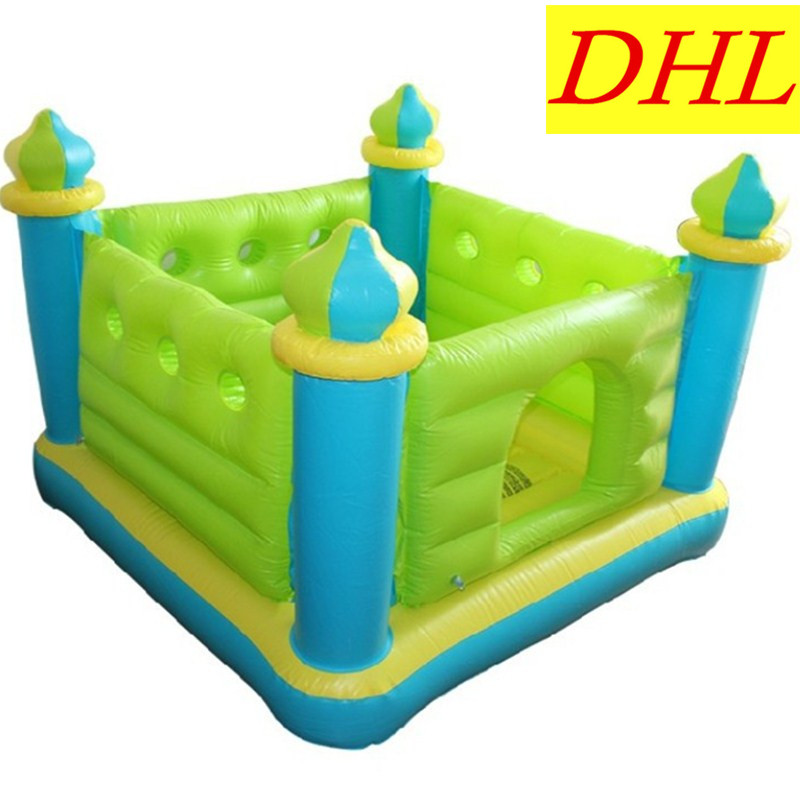 Small Inflatable Trampoline Castle Cartoon Indoor Outdoor Paradise Bounce Naughty Fort Creative Kids Gift Toy L1856 недорго, оригинальная цена
