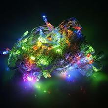 10m100Leds 220 V Luz LED String Para Festa de Aniversário Do conto de Fadas Do Casamento Do Natal Decoração Do Jardim do Sexo Feminino Masculino Conjunta À Prova D' Água
