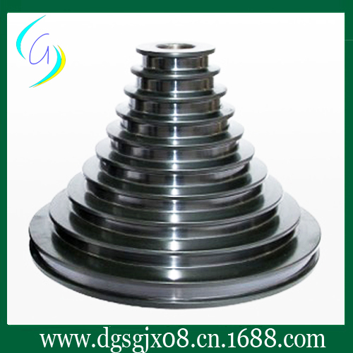 Tungsten carbide coating cone pulley for wire cable industry chrome oxide plated steel wire guide pulley for wire industry