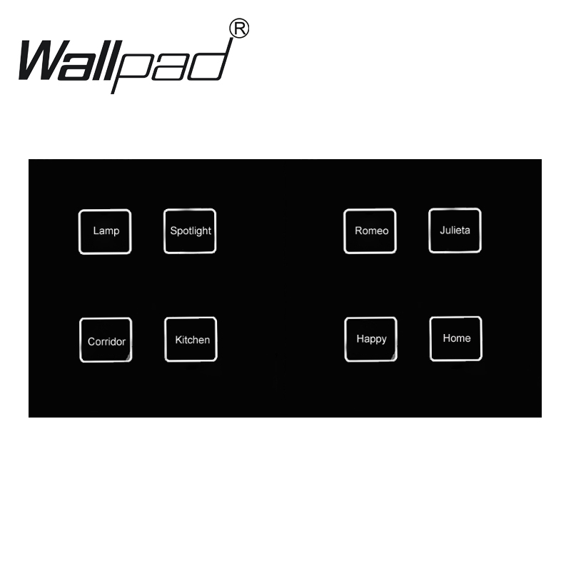 Hot Sales Waterproof 8 gangs 2 way Crystal Black LED Smart touch light switch 172*86mm touch wall switch Free ShippingHot Sales Waterproof 8 gangs 2 way Crystal Black LED Smart touch light switch 172*86mm touch wall switch Free Shipping