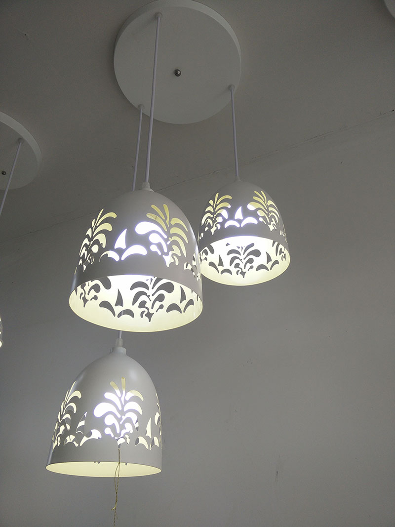 minimalist lighting. Three Head Modern Minimalist White Dining Room Creative Lighting LED Pendant Light Iron Laser Cut Drill Hole Painted-in Lights From O