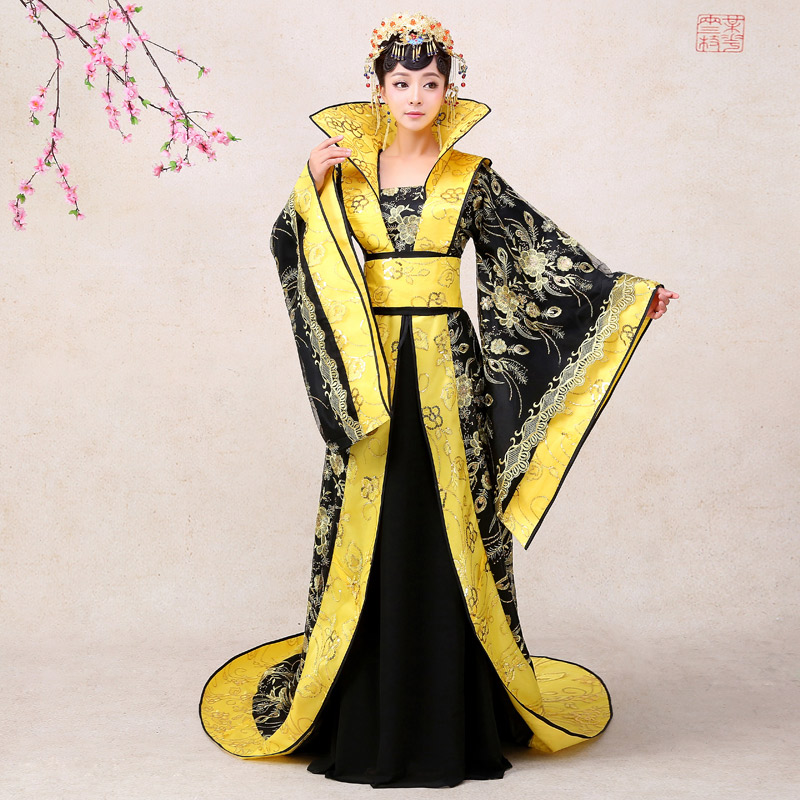 High qualtiy Princess queen royal trailing ancient costume hanfu Dress stage photography Vintage Chinese Style Embroidery Outfit