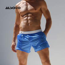 ALSOTO Mens Swimsuit Summer Beach Shorts Translucent Swim Surf Short De Bain Homme Board Swimwear Banadores Sea