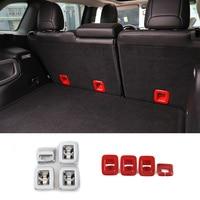 Car Interior Accessories For Jeep Cherokee Rear Back Row Passenger Seats Backrest Belt Button Decorative Trim