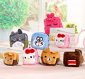 5Designs- Kawaii DOMO , Hello Kitty Etc. Gift Keychain BAG , Square Small 6CM Coin BAG , Plush Coin Wallet handbag Purse Pouch