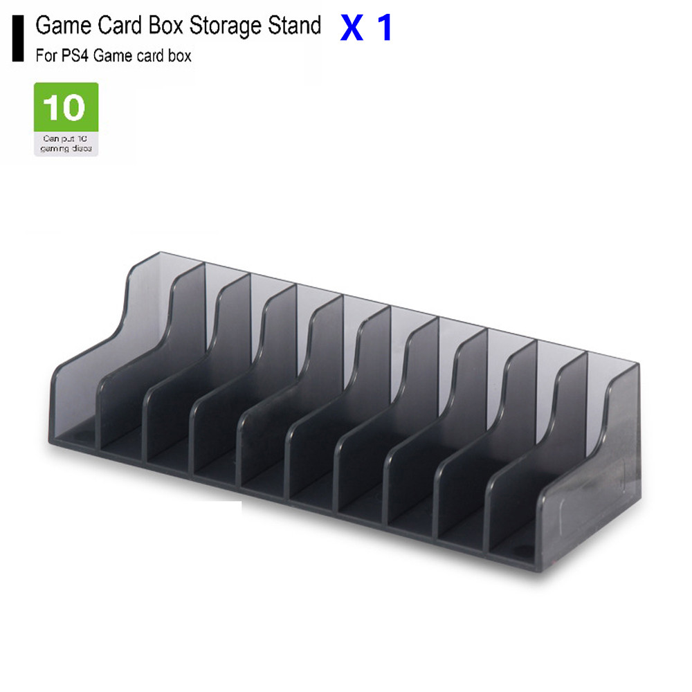 1 pcs For PlayStation 4 PS4 PRO Slim Game Card Box Storage Stand Holder For Play Station 4 10pcs CD Disks Card Holder Ports image