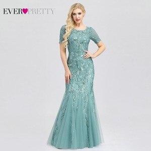Image 4 - Ever Pretty Sexy Evening Dresses V Neck Sequined Side Split EP00910NB Elegant Formal Gowns Little Mermaid Dresses Abendkleider