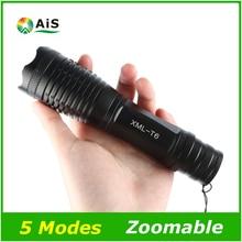 LED Фонарик 18650 Масштабируемые фонарик водонепроницаемый фонарик XM-L T6 3800LM 5 режима led Масштабируемые свет 3x AAA или 3.7 В батареи
