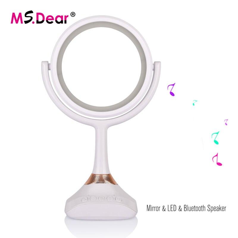 Flight Tracker Smart Bluetooth Lautsprecher Kosmetikspiegel Mit Led Tischleuchte Spiegel 1x/5x Lupe Usb Wiederaufladbare Kosmetische Tischlampe Spiegel Schönheit & Gesundheit