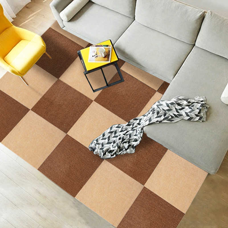 RULDGEE פוליאסטר ילדי ילדים בית רצפת מחצלת שטיח לסלון קסם טלאי פאזל אחוי ראשי טיפוס תינוק מחצלת