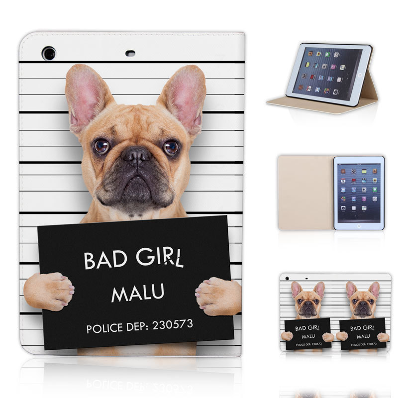 BTD BAD GIRL MALU Cute Dog Print Case for ipad mini 1 2 3 Free Screen Protector P022-ip-mini