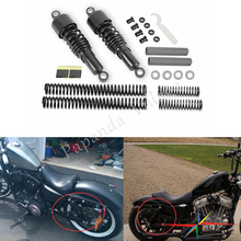 Papanda Steel Black Front Rear Shock Absorbers Lowering Slammer Kit for Harley Touring FLT FLHT FLTR Electra Glide 1984-2013