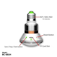 BC 681H 36pcs IR LED Emergency Backup Last Record Support Max 64G SD Card Voltage AC
