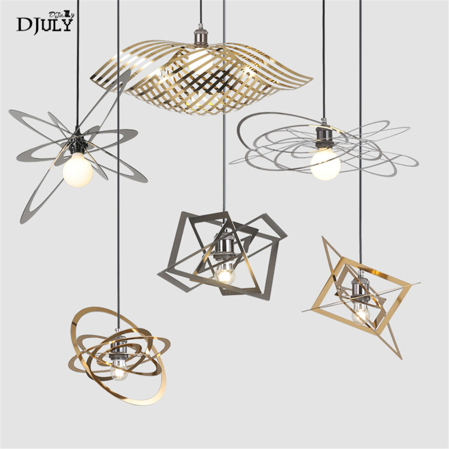 postmodern design stainless steel diy pendant lights for living room dining room luster kitchen home deco hanging lamp fixturespostmodern design stainless steel diy pendant lights for living room dining room luster kitchen home deco hanging lamp fixtures