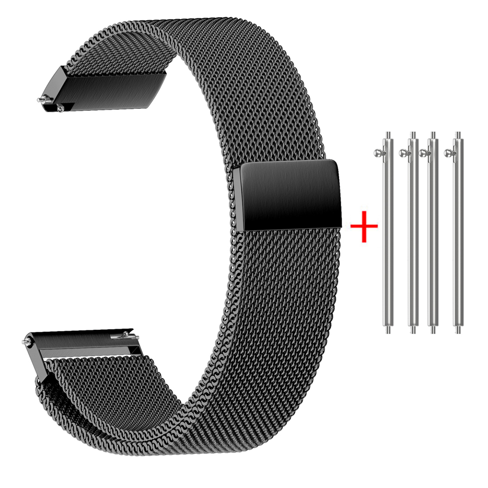 Milanese Strap for Samsung Gear S3 Stainless Steel Strap Bracelet with Magnetic Closure for Samsung Gear Sport 20mm 22mm Band