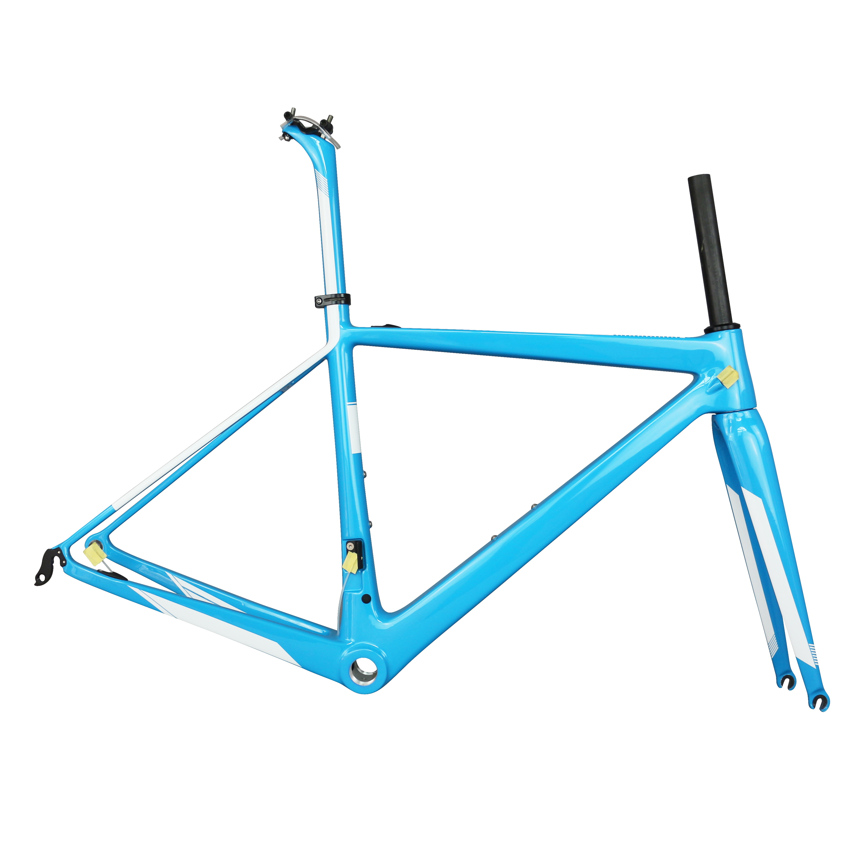 2019 New Arrivals Toray Carbon Fiber T1000 UD Weave  Bicycle Frame Glossy Blue Frame FM686 Warranty 2years