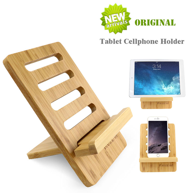 iCozzier Detachable Bamboo Adjustable Original Tablet Cellphone Stand Home Office Multi-angle Portable Holder