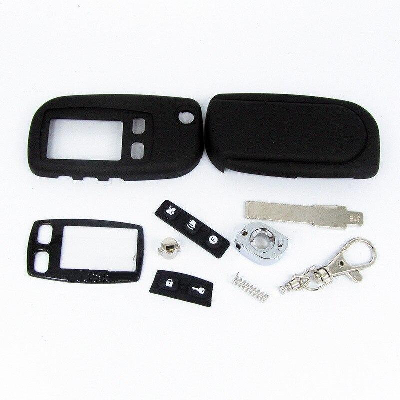 FOB alarme switchblade clé pour Tomahawk TW9010 TW9020 TW9030 uncut lame fob cas couverture TW9010 TW9030 pliage voiture flip à distance