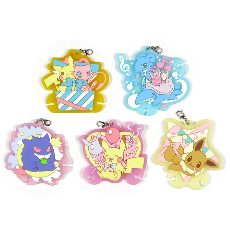 Pikachu Original Japanese Anime Figure Rubber Silicone Sweet Smell Mobile Phone Charms Keychain Strap