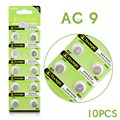 Factory Price 10 Pieces 1.55V AG9 LR936 394 SR936SW 194 V394 Button Coin Cell Alkaline Battery 52% off