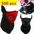 500 unids máscara De Neopreno Neck Warm Media Mascarilla del Festival de Invierno A Prueba de Viento Deporte Bicicleta de La bici de Esquí máscaras Equipo